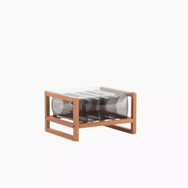 Revendeur de Mojow solution design fr mobilier table basse Yoko wood orange cristal