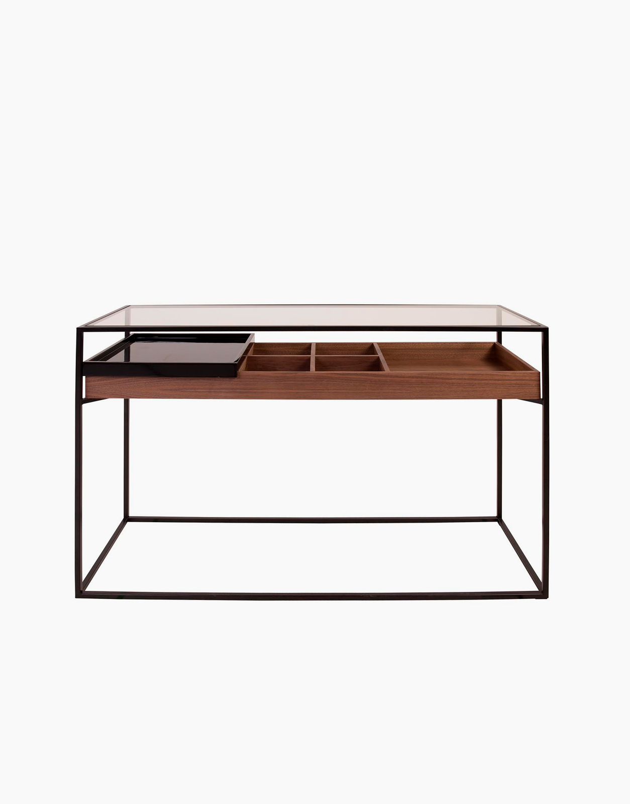 Helix Console In Wood Metal And Glass 1 Tray Solution Design Fr Furniture Lighting Decoration