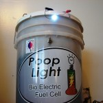 bio-electric fuel cell powered by manure