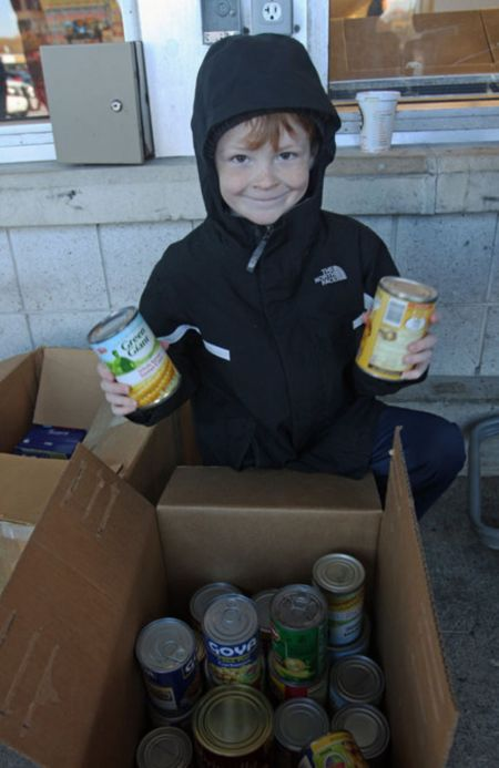 Food drives at the supermarket are more effective than door-to-door drives