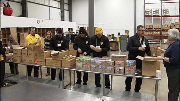 sports team helps draw volunteers to event