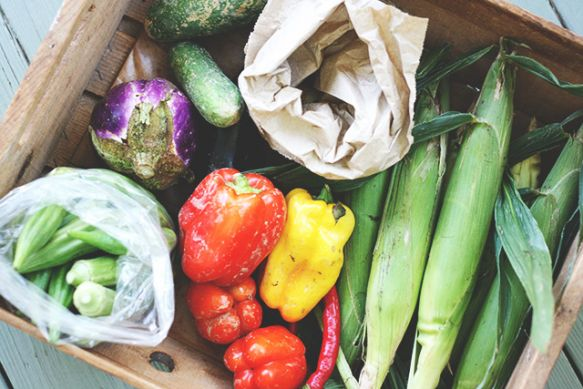 Try selling produce at public transit stations