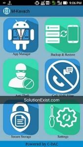 M-Kavach antivirus android application