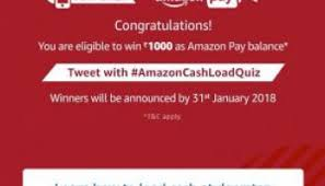 Amazon Recharges Quiz answer 19th December : To Win Up To Rs 500 – 1000