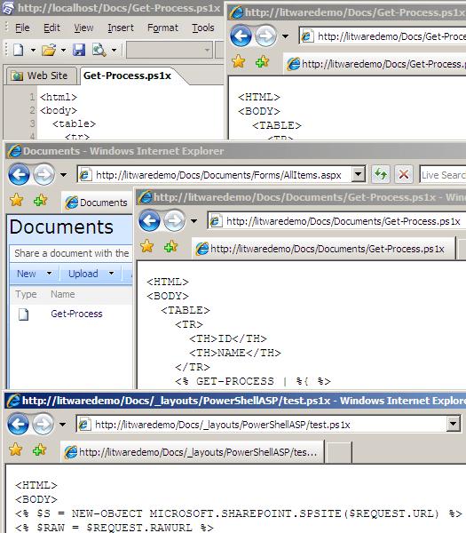PowerShellASP in SharePoint - Extended Handler