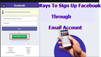 Ways To Sign Up Facebook Through Email Account