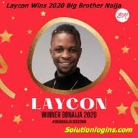Laycon Wins the 2020 Big Brother Naija Season 5 lock Down