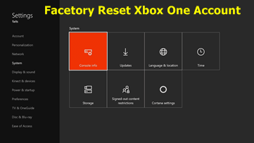 Reset Xbox One Account – How To Factory Reset Xbox One Console Easily