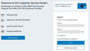 www.nylaarp.com/service Login – AARP Life Insurance Payment