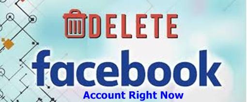 Delete Facebook Account Right Now – Facebook Delete Option / How To Delete Facebook Account