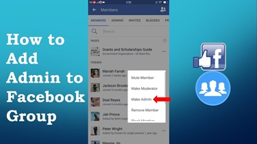 How To Add Admin To Facebook Group – Add Admin To Facebook Group page