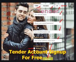 Tender Account Signup For Free   Tender Sign In –  Download Tender Online Dating App