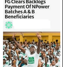 FG to Pay Outstanding Allowance of Npower Batch A and B Volunteers