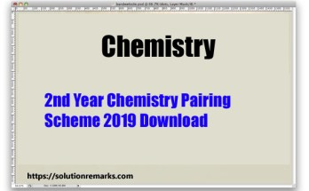 2nd year chemistry scheme 2019