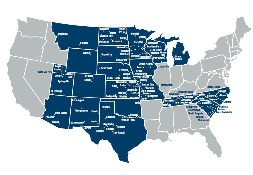 Border States Footprint