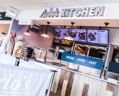 Arlo's Kitchen Signage | Moto Cherwell Valley