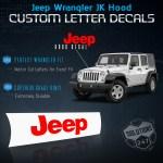 Jeep Wrangler 07 18 Jk Vinyl 2 Piece Hood Decal Jk U Pick Color