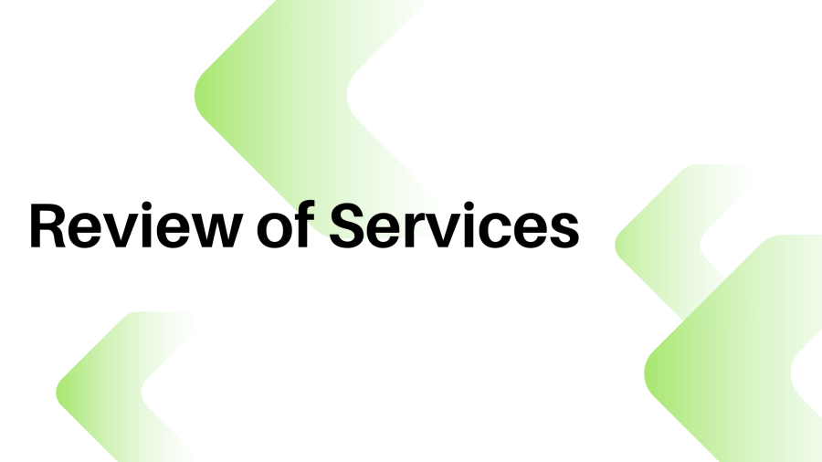Review of your services