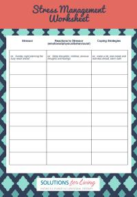 Managing Stress Worksheets - Kidz Activities