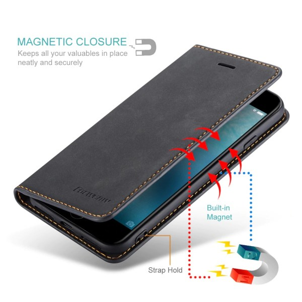 Black Magnet Leather Flip Case For iPhone 11 Pro Max