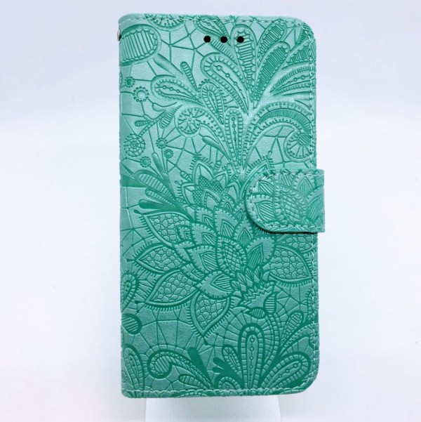 Huawei Honor S8 flip case turquoise flower