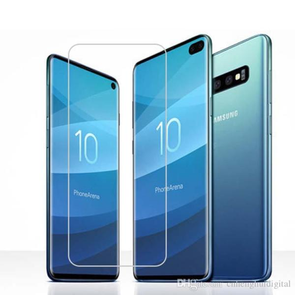 Samsung S10 Plus tempered glass clear straight