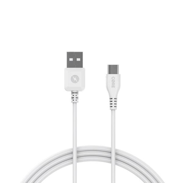 CORE USB-C Cable 1m Fast Charge White