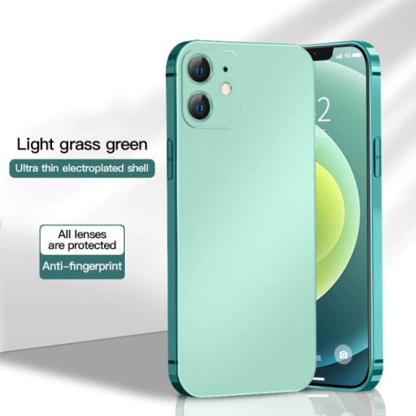 iPhone 12 Pro Max Silicon thin case mint green