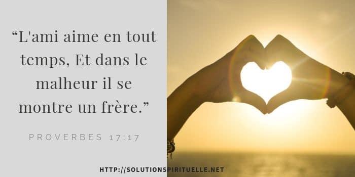 versets bibliques sur l'amour