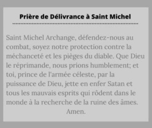 Prière de délivrance à saint Michel archange
