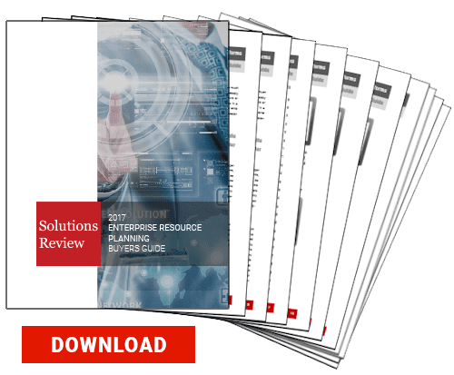 2017 Solutions Review Enterprise Resource Planning ERP Buyer's Guide