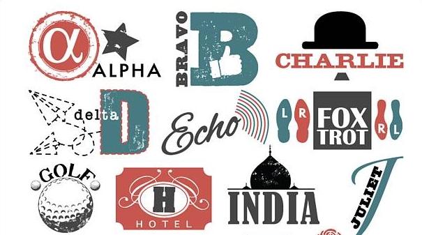 Kombineret udgave af det fonetiske alfabet