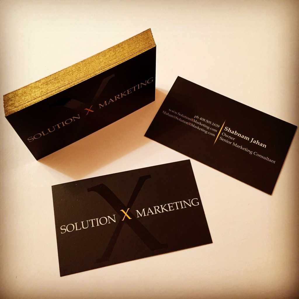 Solution X Marketing Business Cards