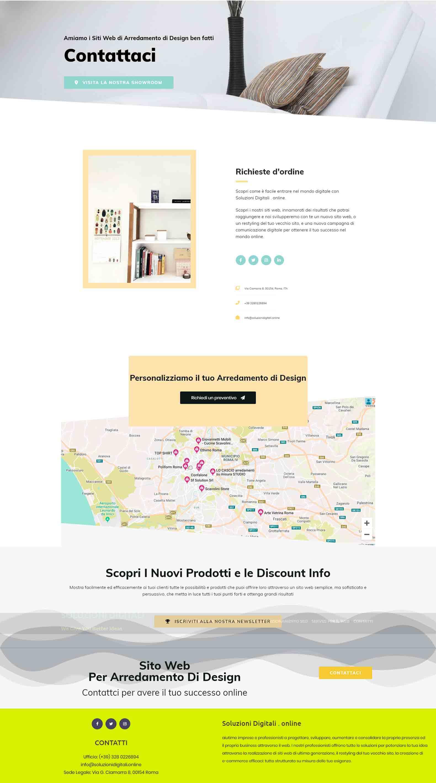 Arredamento di Design Soluzioni Digitali Online Sito Web Creare Realizzare siti SEO efficace Marketing ResponsivoCont2
