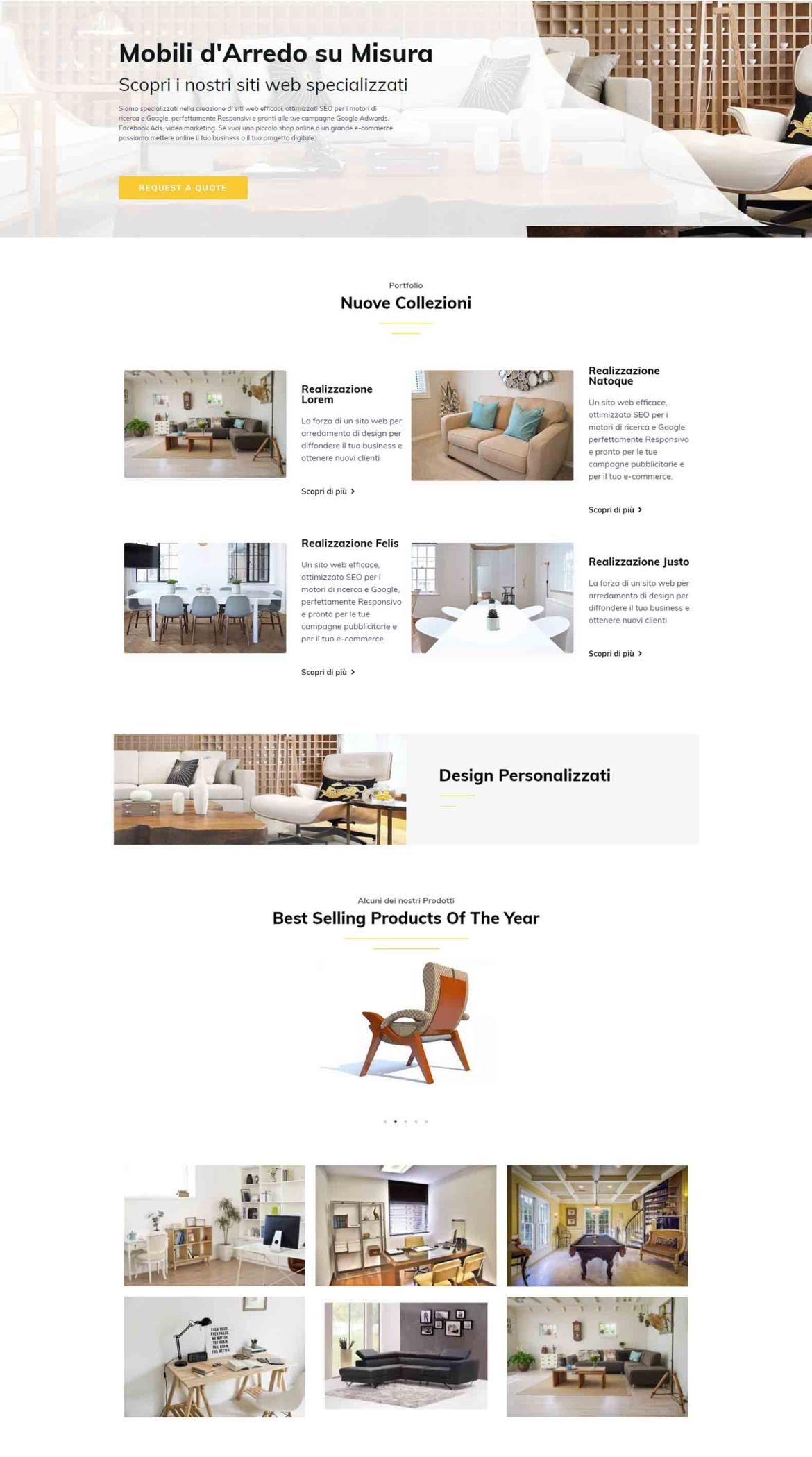 Arredamento di Design Soluzioni Digitali Online Sito Web Creare Realizzare siti Web SEO efficace Marketing Responsivo Srv1
