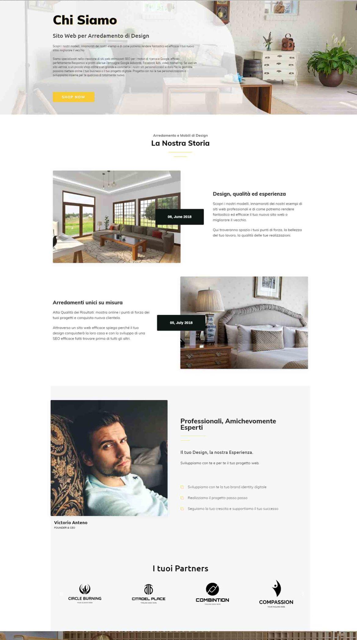 Arredamento di Design Soluzioni Digitali Online Sito Web Creare Realizzare siti Web SEO efficace ecommerce Marketing ChS01