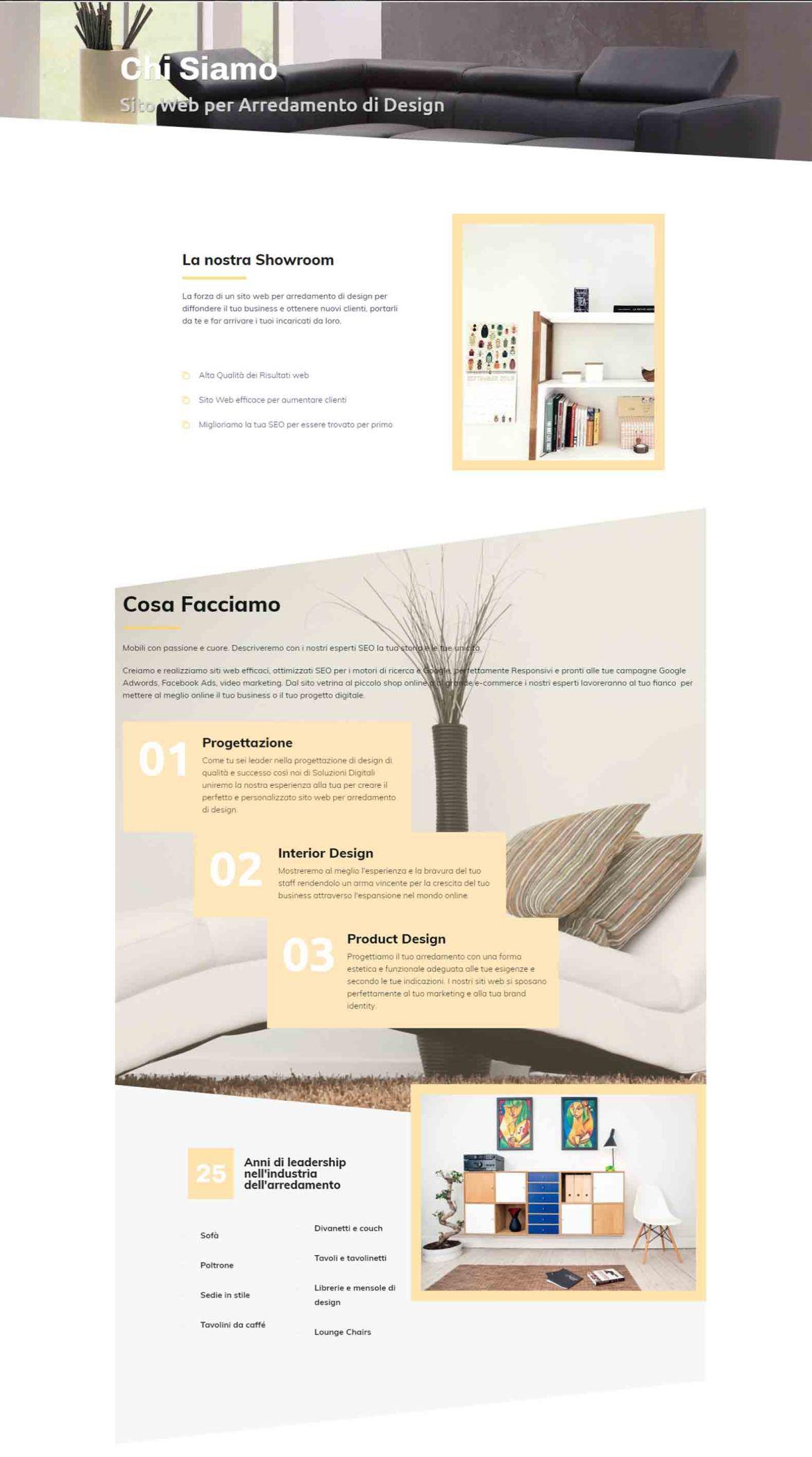 Arredamento di Design Soluzioni Digitali Online Sito Web Creare Realizzare siti Web SEO efficace ecommerce Marketing ChS02