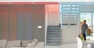 L'impianto di riscaldamento radiante è il più indicato per fare caldo e freddo. Ha una risposta termica velocissima e dei costi di gestione veramente bassissimi.