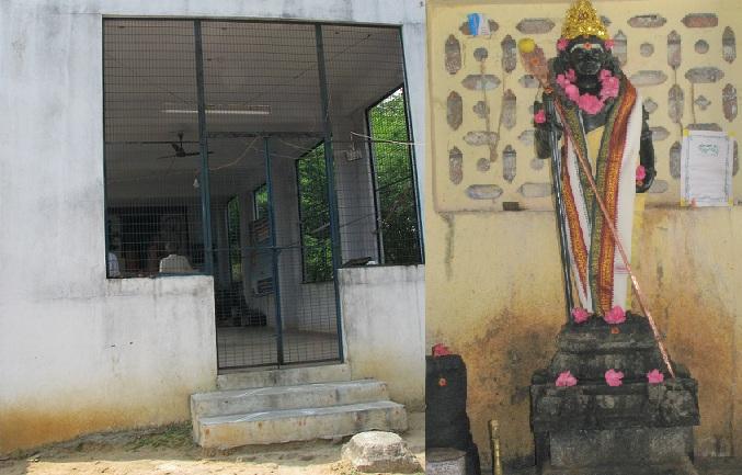 தக்ஷிணாமூர்த்தி பிள்ளை மண்டபமும், முருகனும்