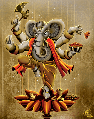 Ganesha_Pillaiyaar_Art_Work_Indian_Gods_Hinduism_Elephant_Face