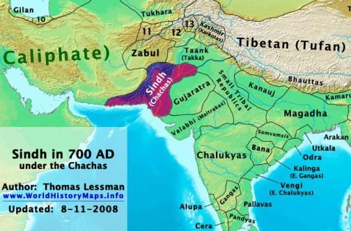 Sindh, 700 AD (Cacha Dynsty)
