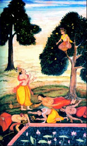 Yaksha_Prashna_Enchanted_Pool_Yudhishtira_Questions_Lake_Death_Die_Surprise_Life_Panadava_Water_Thirsty