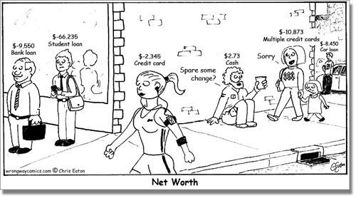 net_worth_comic_Wealthy_get_Debt_Credit_for_Rich_Poor_Beggar_Cartoon_Caricature