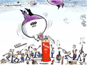 CEO_Billionaire_Pay_Compensation_Cartoon_Stockholders_Employees