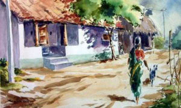 indian-village-street