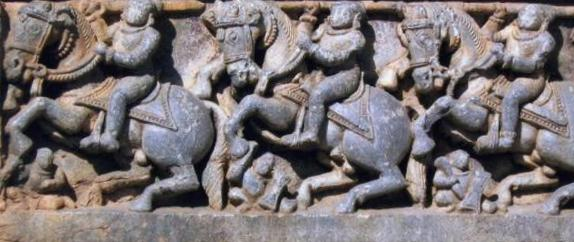 soldiers on horse