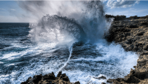 Waves_Crash_Water_Tears_teardrops_Sea_Ocean_Rocks_Crash_Force_Sky_Cloud_Blue