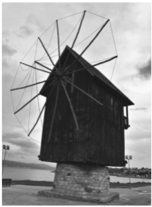 City_Village_Windmill_Rural_Landscape_Time_Flow_Rotate_Circle_Round_Life_Move