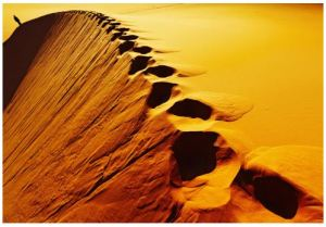 Silence_Desert_Steps_Footstep_Path_Sand_Alone_Single_Quiet_Quite_Ssh_Shh_Mouth_Close