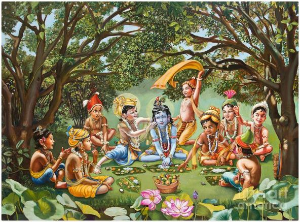 Krishna_Kannan_Eat_Food_kids_Children_Play_Forest_Nature_Trees_Fruits_Gokulashtami
